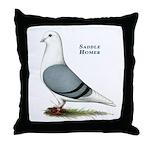 Blue Saddle Homer Throw Pillow