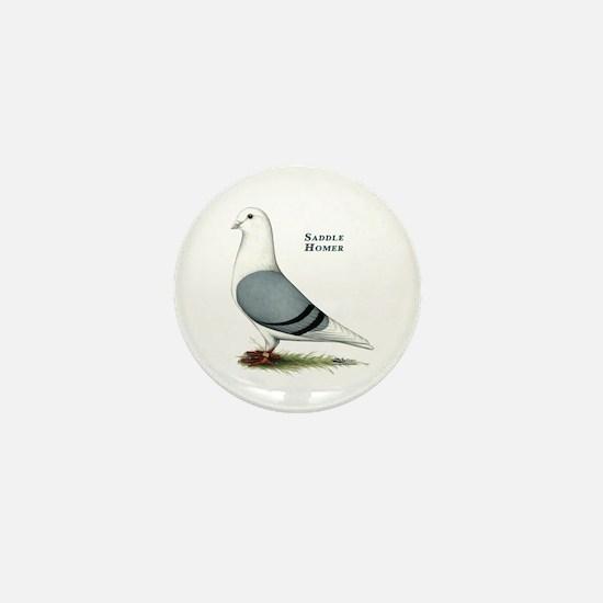 Blue Saddle Homer Mini Button