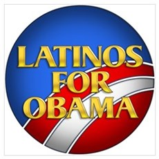 Latinos For Obama Poster