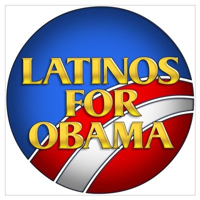 Latinos For Obama Poster