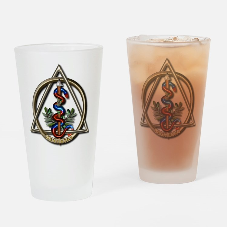 Dentistry Caduceus Drinking Glass