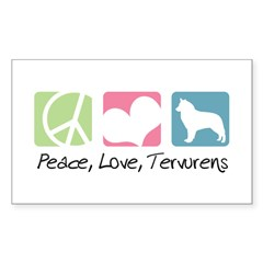 Peace, Love, Tervurens Decal
