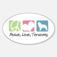 Peace, Love, Tervurens Decal