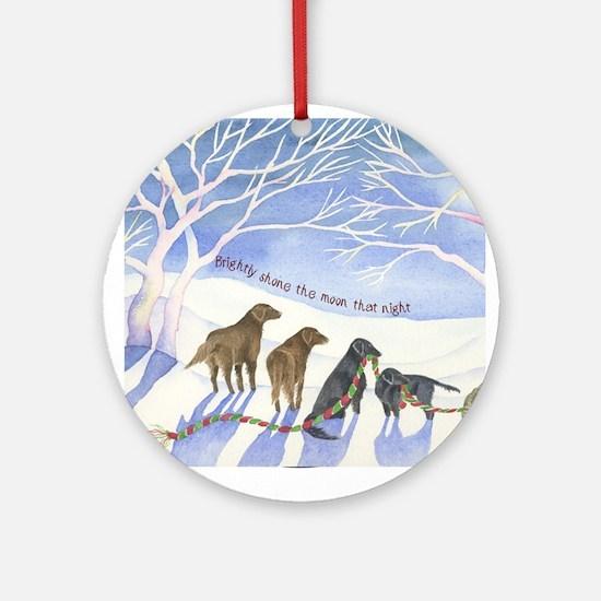 Flat-coated Retriever Moonlight Ornament (Round)