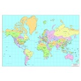 World map Wrapped Canvas Art