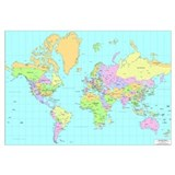 World map Framed Prints