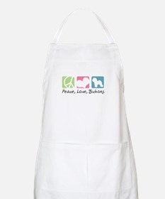 Peace, Love, Bichons Apron