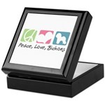 Peace, Love, Bichons Keepsake Box