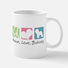 Peace, Love, Bichons Mug