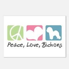 Peace, Love, Bichons Postcards (Package of 8)