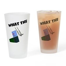 What the He Double Hockey Sti Drinking Glass