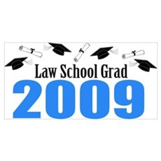 Law School Grad 2009 (Blue Caps And Diplomas) Larg Poster