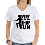 Shufflin Women's V-Neck T-Shirt