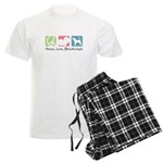 Peace, Love, Bloodhounds Men's Light Pajamas