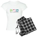 Peace, Love, Bloodhounds Women's Light Pajamas