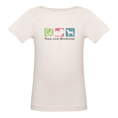 Peace, Love, Bloodhounds Organic Baby T-Shirt