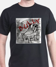 Brick Wall Bully Design Ash Grey T-Shirt
