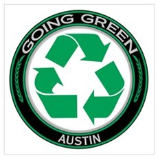 Going Green Austin Recycle Poster
