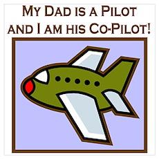 Grandpa's Co-Pilot Airplane Poster