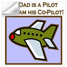 Grandpa's Co-Pilot Airplane Wall Decal