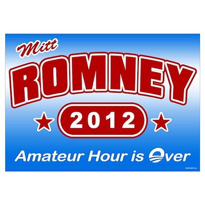 Romney - Amateur Hour Poster