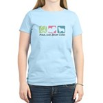 Peace, Love, Border Collies Women's Light T-Shirt