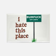 Bumfuck Rectangle Magnet