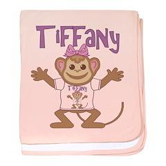 Little Monkey Tiffany baby blanket