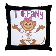 Little Monkey Tiffany Throw Pillow