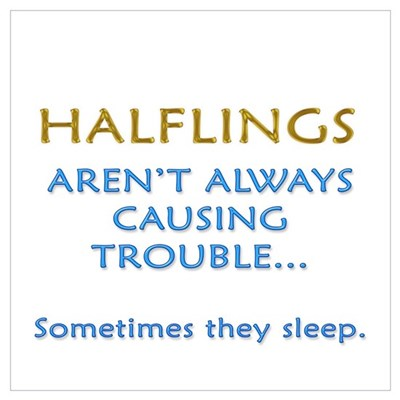 Troublesome Halflings Poster