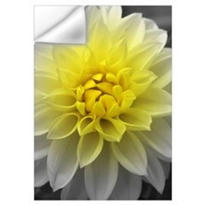 Yellow White Dahlia Wall Decal