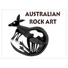 Australian Rock Art Poster
