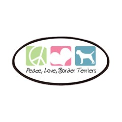 Peace, Love, Border Terriers Patches