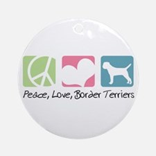 Peace, Love, Border Terriers Ornament (Round)