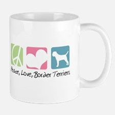 Peace, Love, Border Terriers Mug