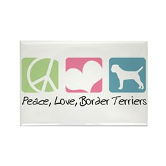 Peace, Love, Border Terriers Rectangle Magnet