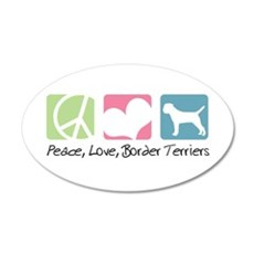 Peace, Love, Border Terriers 22x14 Oval Wall Peel