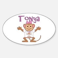 Little Monkey Tonya Sticker (Oval)