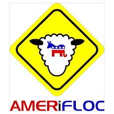 Caution: Amerifloc Poster