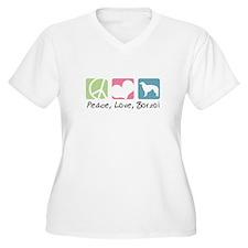 Peace, Love, Borzoi T-Shirt