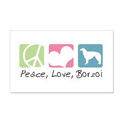 Peace, Love, Borzoi 22x14 Wall Peel