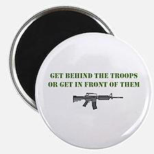 "Behind the Troops 2.25"" Magnet (10 pack)"
