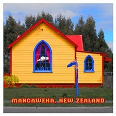 Mangaweka Church Framed Print