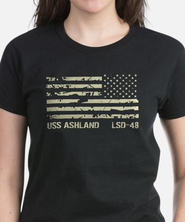 USS Ashland Women's Dark T-Shirt
