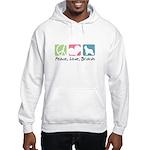 Peace, Love, Briards Hooded Sweatshirt
