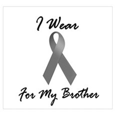 I Wear Grey For My Brother 1 Framed Print