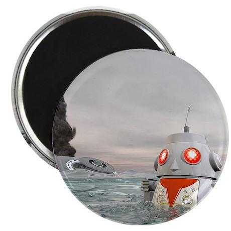 """Robot Crash at Sea 2.25"""" Magnet (100 pack)"""