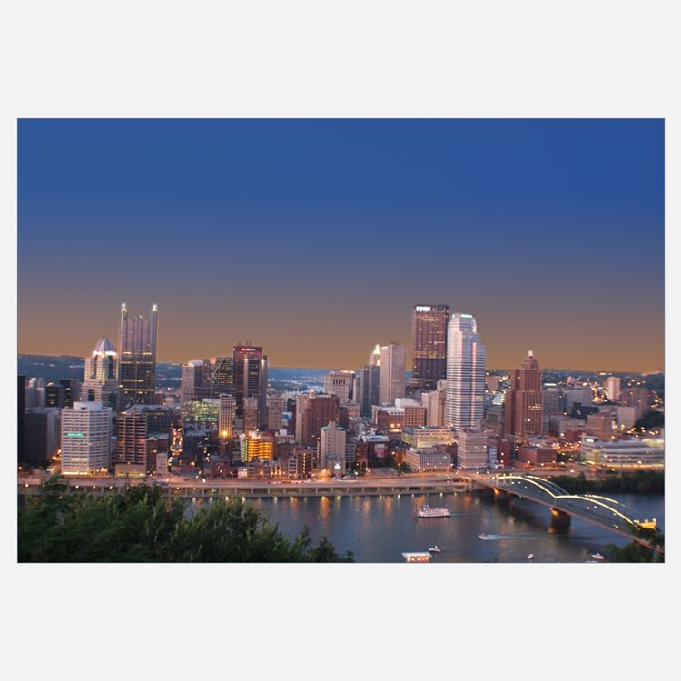 Pittsburgh Skyline: Pittsburgh Skyline Wall Decor