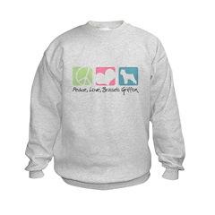 Peace, Love, Brussels Griffon Sweatshirt