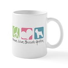 Peace, Love, Brussels Griffon Mug